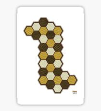 Hexes Chess 3P2 game board Sticker