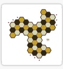 Hexes Chess 3P3 game board Sticker