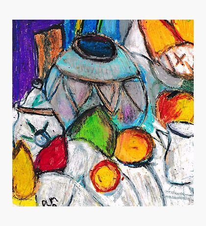 Pottery & Fruit (after Cezanne) Photographic Print