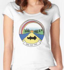 Camiseta entallada de cuello redondo once puntos del río