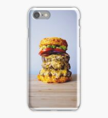 Cheese Burger Stack with Mac 'n' Cheese Buns iPhone Case/Skin