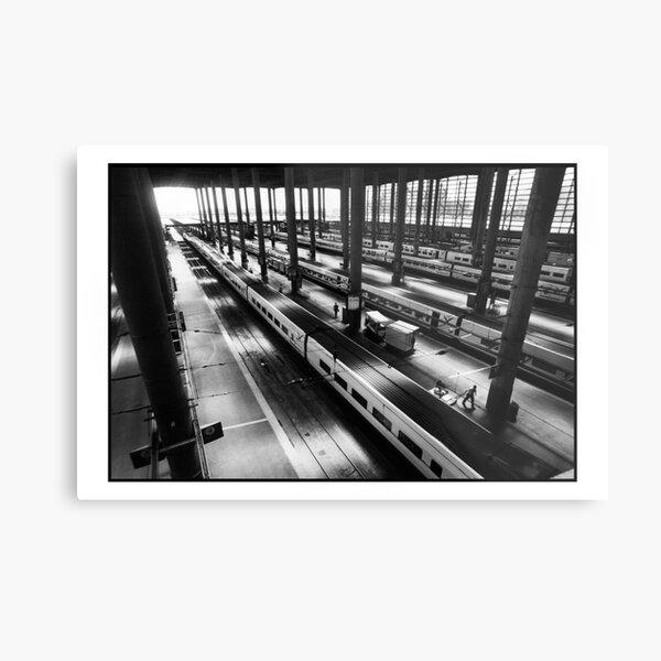 Atoche Train Station Madrid A to B Metal Print