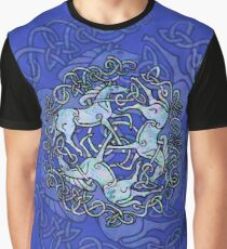 Tri Capall Triskelle - Blue Graphic T-Shirt