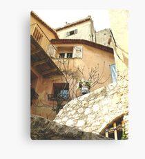 Streets of Eze, Cote D'Azur, South of France Canvas Print