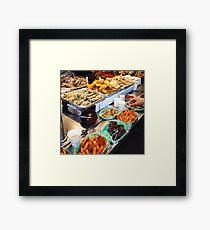 Korean Street Food Framed Print