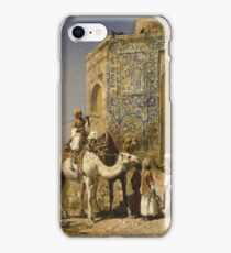 Edwin Lord Weeks - The Old Blue-Tiled Mosque Outside Of Delhi, India 1885 iPhone Case/Skin