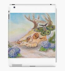 Oil Pastel Deer Skull iPad Case/Skin