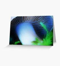 Artscape........The blue Fungus.......... Greeting Card