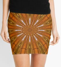 Psychedelic Orange Mandala Mini Skirt
