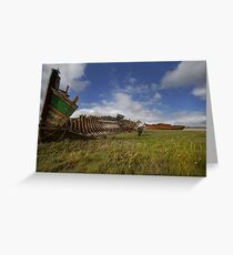 Old boat wrecks Greeting Card