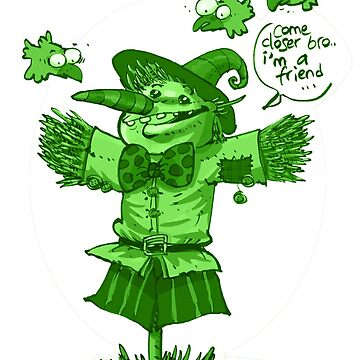 scarecrow funny cartoon green tint by anticute
