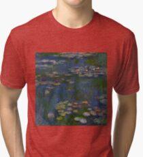 Claude Monet - Water Lilies 1916 Tri-blend T-Shirt