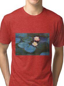 Claude Monet - Water Lilies 1899 Tri-blend T-Shirt
