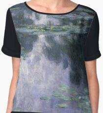 Claude Monet - Water Lilies (Nympheas) Chiffon Top