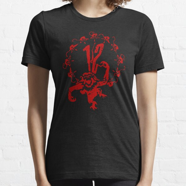 12 Monkeys - Terry Gilliam - Red on Black Essential T-Shirt