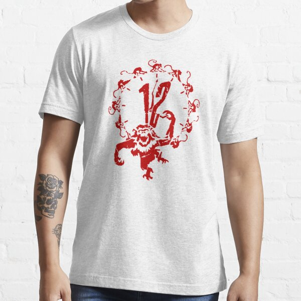 12 Monkeys - Terry Gilliam - Red on White Essential T-Shirt