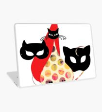 Cats Graphic Tshirt Cute Illustartion Laptop Skin