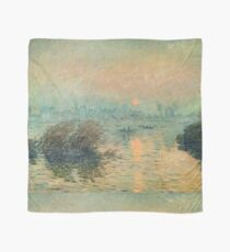 Claude Monet - Sunset On The Seine At Lavacourt Winter Effect 1880 Scarf