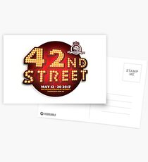 The Regals - 42ND STREET Postcards