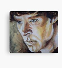 Benedict Cumberbatch Sherlock inspired fan art Canvas Print