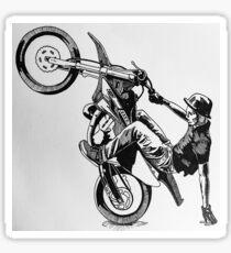 One Wheel Wavey Illustration Sticker