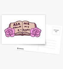 Ask Me About My Ebooks Postcards