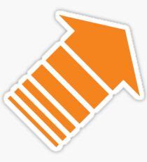 Orange arrow Sticker