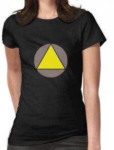 Yellow Triangle Womens Fitted T-Shirt
