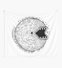 Surfer Phobia - Round Monster Fish Wall Tapestry