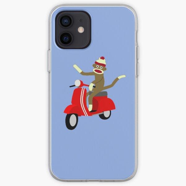 Sock Monkey Vespa Scooter iPhone Soft Case