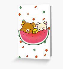 Watermelon rilakkuma Greeting Card