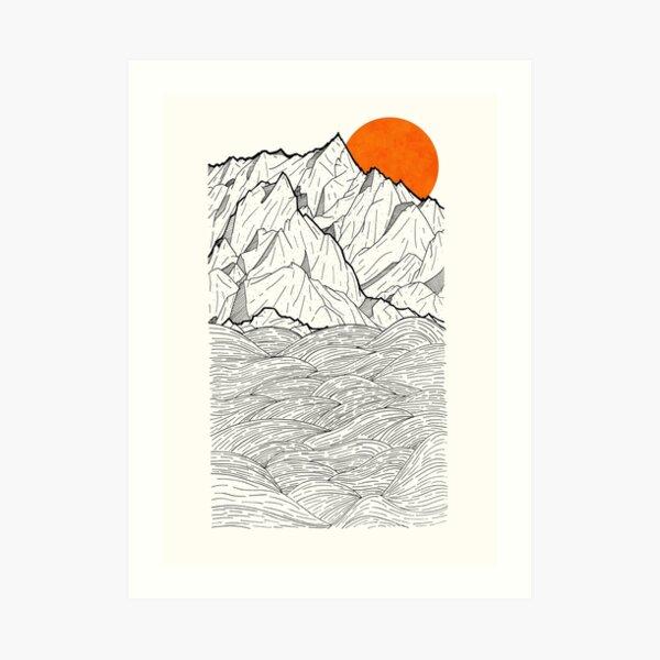 Die orange Sonne Kunstdruck