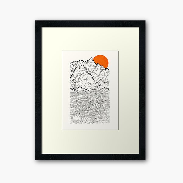 The Orange Sun Framed Art Print