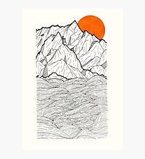 The Orange Sun Photographic Print