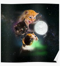 Three Kittens and the Ball of Yarn Poster