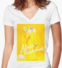 Alaska thunderfuck Women's Fitted V-Neck T-Shirt