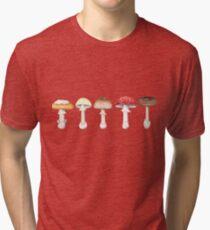 Amanita Mushrooms Tri-blend T-Shirt