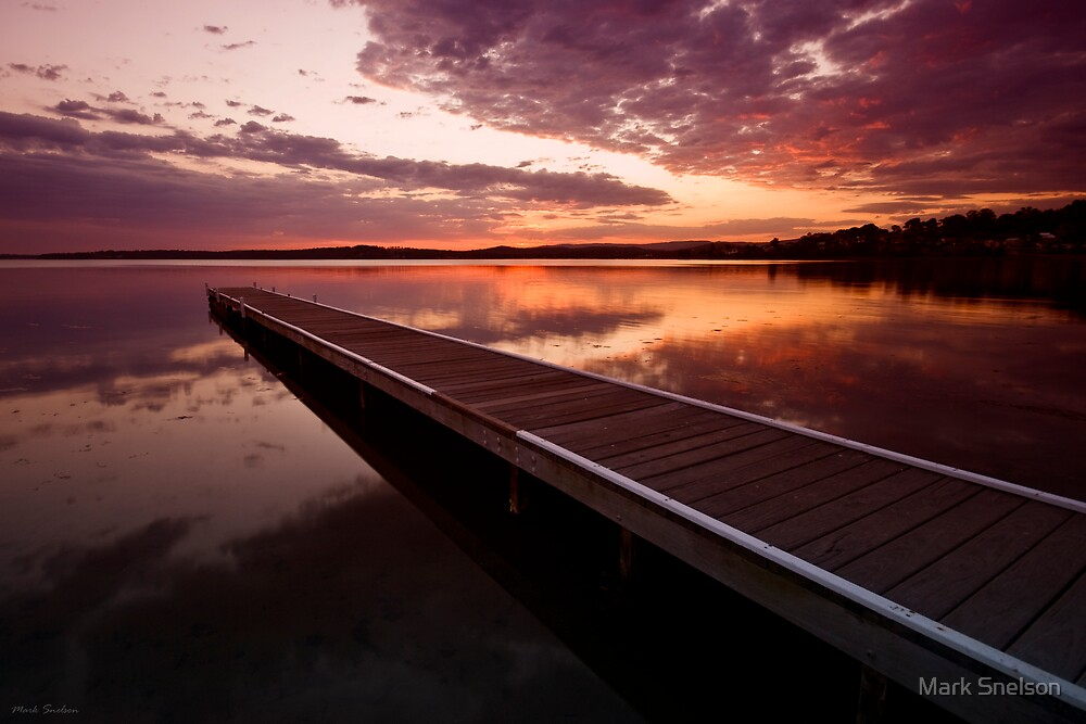 Warners Bay Sunset 8 by Mark Snelson