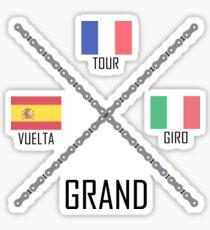 Cycling Grand Tours Sticker