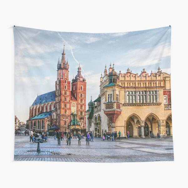 Cracow Main Square art Tapestry