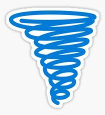 Blue Swirl Sticker
