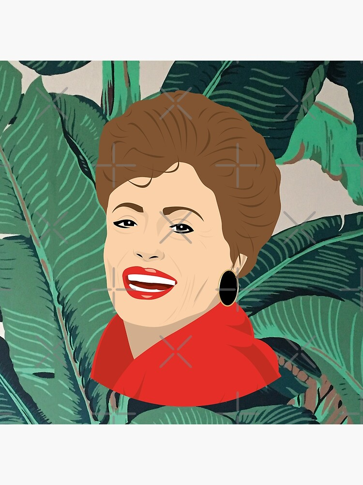 The Golden Girls - Blanche with banana leaf pattern by gregs-celeb-art