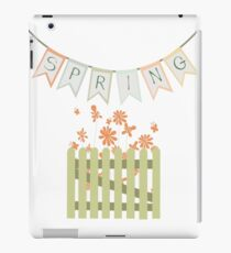 Wooden fence and flowers iPad Case/Skin