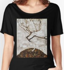Egon Schiele - Small Tree In Late Autumn (1911) Women's Relaxed Fit T-Shirt