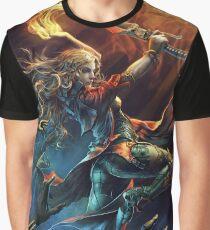 Magic Fire Sword Graphic T-Shirt