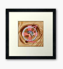 Abducent nerve in the orbit with lateral rectus muscle. Framed Print