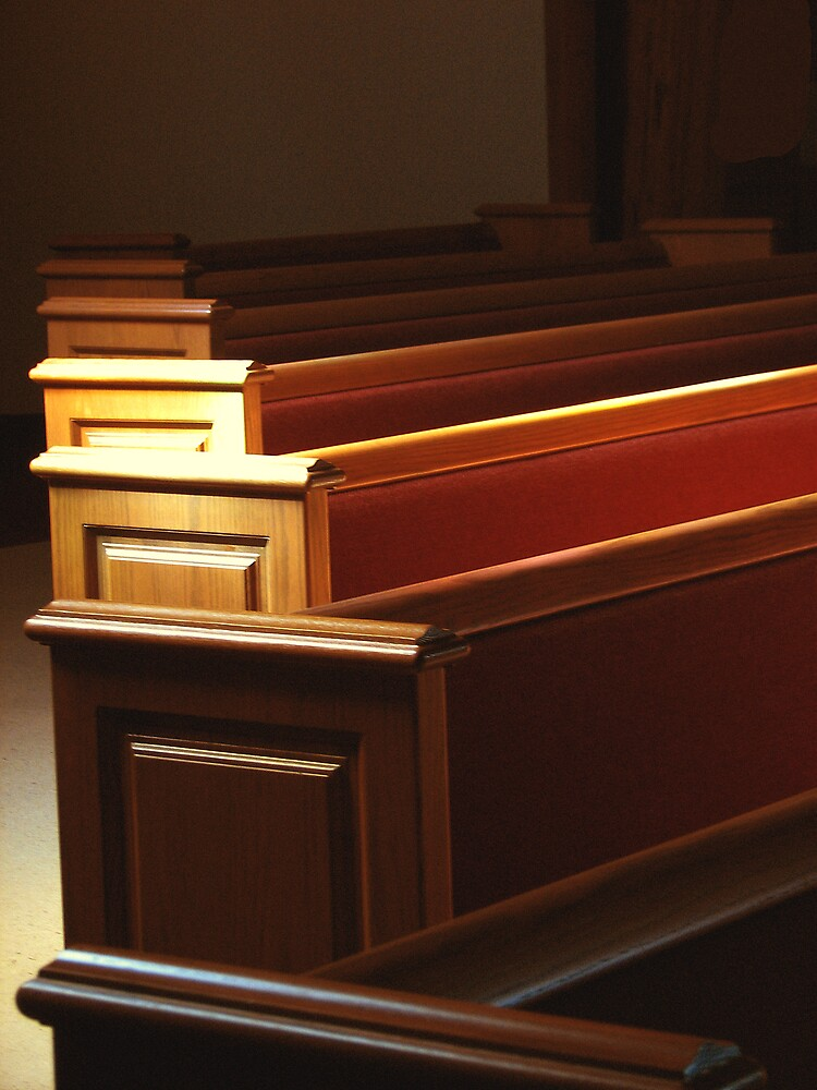 Pews Under Stained Glass by Wendy J. St. Christopher
