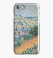Claude Monet - View Over Vetheuil, 1881 iPhone Case/Skin