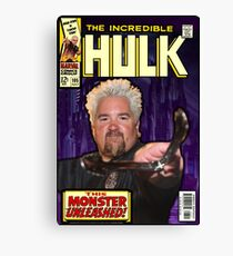 Hulk/Guy Fieri Comic Mashup Canvas Print