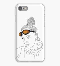 Girl with orange glasses iPhone Case/Skin